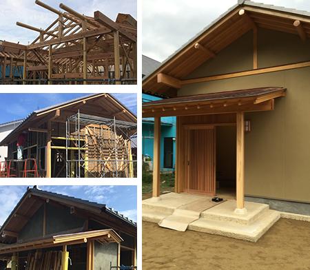 木造建築の構造イメージ写真